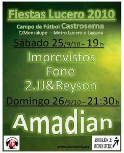 Cartel Conciertos Fiestas Lucero 2010