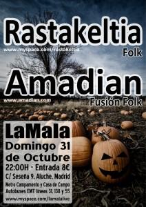 Poster La Mala 31/10/2010