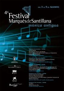 Cartel del 4º Festival Marqués de Santillana de Música Antigua (2012)