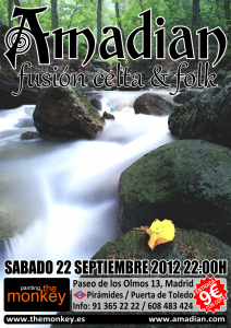 Póster de Amadian en Painting The Monkey, Madrid, sábado 22 de septembre de 2012